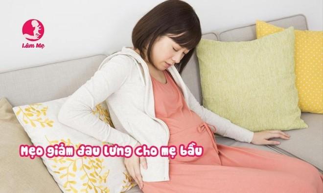Giúp mẹ bầu giảm đau thắt lưng trong thai kỳ