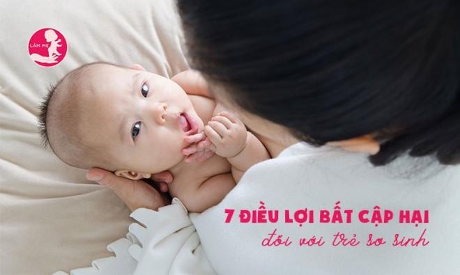 7 điều mẹ tưởng tốt nhưng lại gây hại cho trẻ sơ sinh